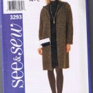 Butterick See & Sew 3293 Misses / Misses Petite Jacket and Dress - Sizes 18-20-22 - UNCUT