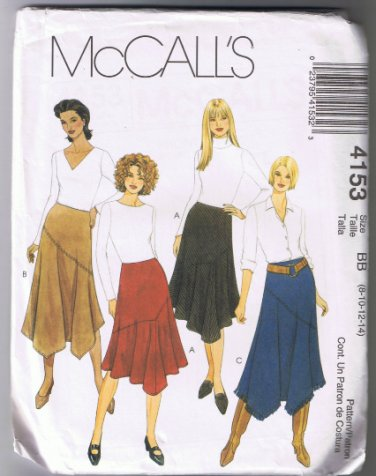 McCall's 4153 Misses Skirts Loose-fitting, Flared Skirts Size 8-10-12-14 UNCUT Factory Folded