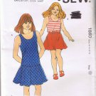 Kwik Sew 1860 - Girl's Dress, Top & Skirt - Sizes 8, 10, 12, 14 - UNCUT Factory Folded