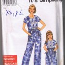 Simplicity 7583 Child's and Misses' Romper - Sizes 2-6, Sizes XS-XL 6-24 - UNCUT