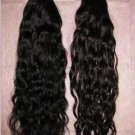 "Virgin Brazilian hair 2 PACKS 12"" BLACK  curly deep wave 12 Inches"