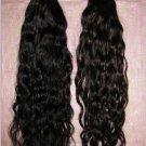 "Virgin  Brazilian hair 2 PACKS 16""  BLACK 200 GRAMS deep wave  curly 16 Inches"