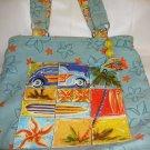 Sand N Sun Beach Tote Preowned Blue Canvas Bag