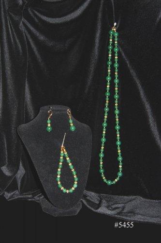 Green Aventurine Necklace, Earrings and Bracelet set