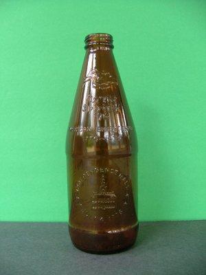 1976 Fyfe & Drum Embossed Bicentennial Beer Bottle � Independence Hall