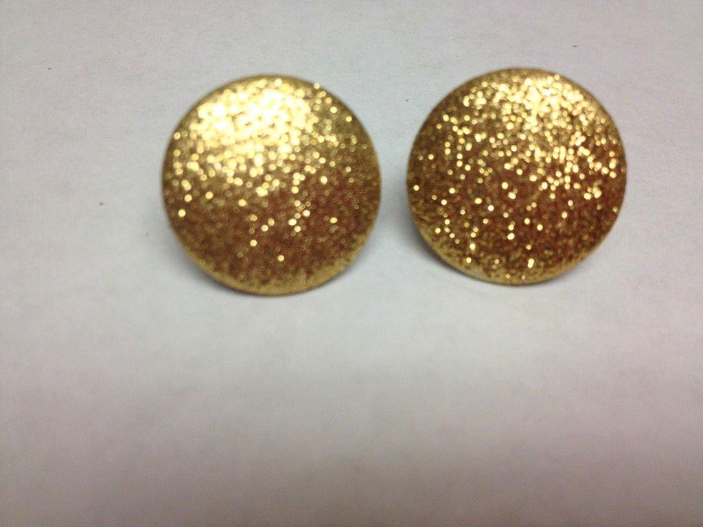 Gold Glitter Dot Earrings