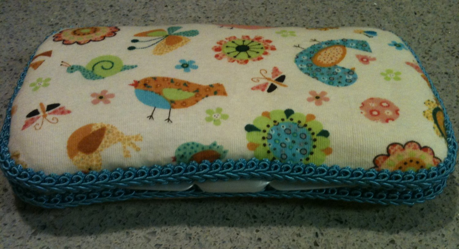 Spring Birds & Flowers Sylish wipe case. Mommy must have, perfect baby shower gift