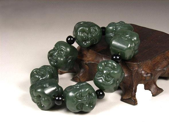 Jade bracelet with colleagues