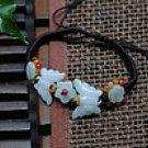 Jadeite jade bracelet butterfly