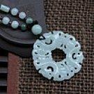 Hisui three LongBao peace pendant