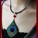 The original manual peacock feather necklace