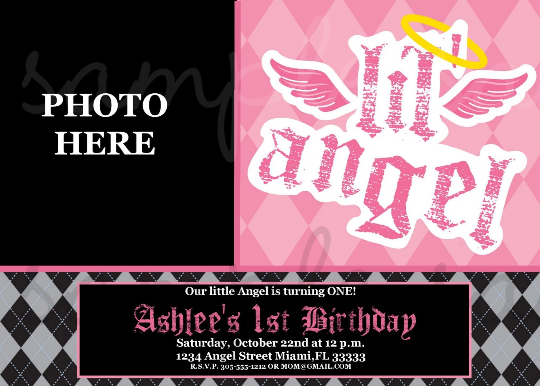 Lil Angel Birthday Invitation