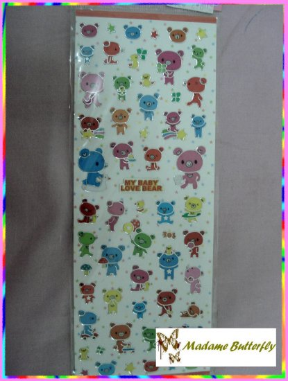 #cute bear stickers 12