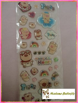 #cute piglet stickers 24