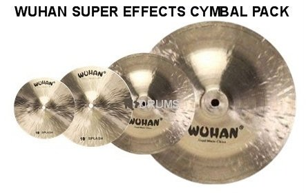 Wuhan Splash 4 Pack Drums & Percussion Cymbals