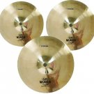 Wuhan Splash 3 Pack Drums & Percussion Cymbals