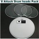 8 Attack Drum Heads Percussion Custom Set