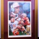 Autographed Florida State Seminoles Bobby Bowden Noah Strokes Print