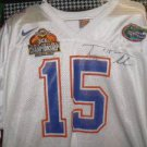 Florida jersey autographed by Tim Tebow