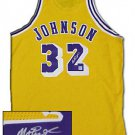 Magic Johnson Los Angeled Lakers Autographed Authentic Gold Jerse