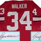 Herschel Walker Georgia Bulldogs Autographed Throwback Jersey with Heisman 82 Inscription
