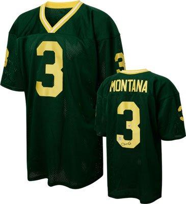 Joe Montana Notre Dame Fighting Irish Autographed Green Custom Jersey