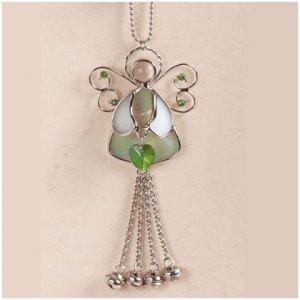 Lovely Stained Glass Angel Suncatcher NEW