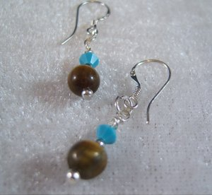 Touch of Turquoise Sterling Silver Earrings