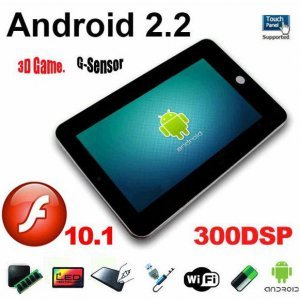 7 inch Epad with android 2.2 (tablet pc) includes WiFi 720p Video 256MB Resistive Touch Screen