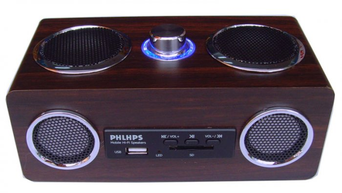 Mini Wooden Music Box MP3 Speaker FM Radio