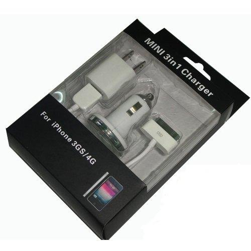 mini 3 in 1 charger for iPhone 3GS/4G