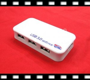 High Speed 4 Port USB 3.0 HUB with Power Adapter