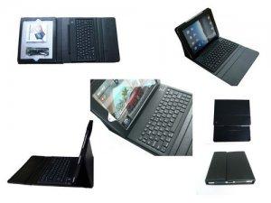 Folding PU Leather Case for iPad Mini, mini 2 with Wireless Bluetooth Keyboard
