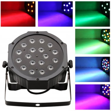 18*1w RGB LED Flat Par with DMX512 Professional Stage Light