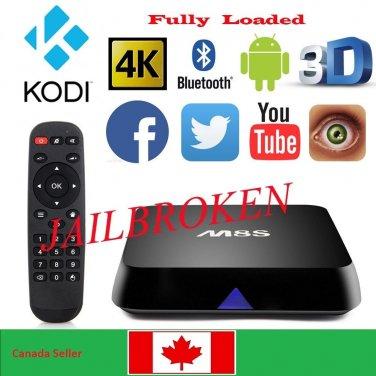 4K M8S Quad Core Android 4.4 Smart TV Box KODI XBMC (KODI) Full Loaded 2GB+8GB