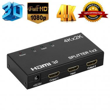 4K*2K   1x2 2 Port HDMI Splitter Repeater Amplifier