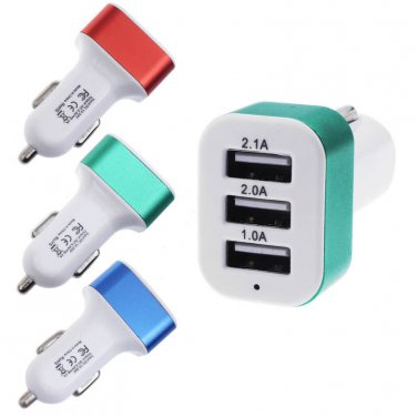 Universal 3-Port USB Car Charger 12V 24V USB Charger Adapter For Cell Phone GPS