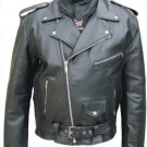 Allstate Leather Traditional Motorcycle Jacket: Split Cowhide : Style # AL2002