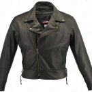 Hillside Leather USA : Leather Motorcycle Jacket : Style # 5540BLK