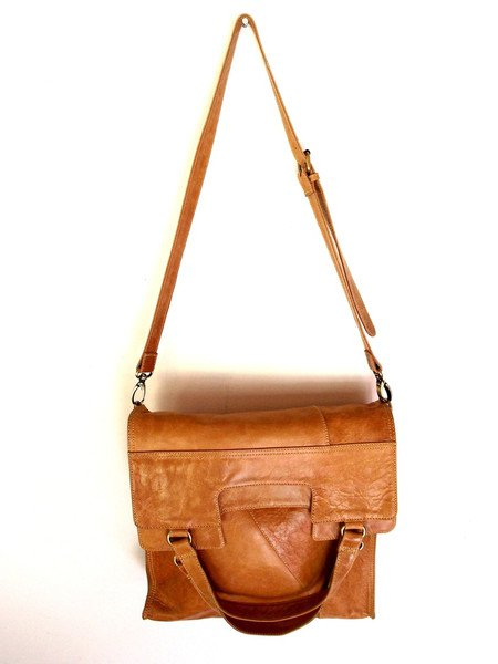 Mi Vida foldable leather bag