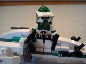 Lego Star Wars Custom Scout ARF Commander Gree