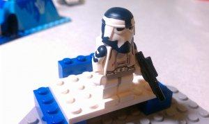 Lego Star Wars Custom Clone Wars Commander Wolffe Snowtrooper