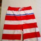J.Khaki striped swim trunks, Cargo Pocket XL, New With Tags