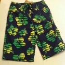 J.Khaki swim trunks, Green Hawaiian Design, Cargo Pocket Size L, New With Tags