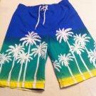 J.Khaki swim trunks, Blue/Green/Yellow Palm Tree Design, Cargo Pocket Size XL, New With Tags