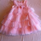 Bonnie Jean 2T Pink Multi-Tiered  Special Occasion Flower Girl Easter Party Dress