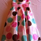 Rare Editions Girls Size 16 Ivory/Pink/Brown Special Occasion Wedding Flower Girl Party Dress