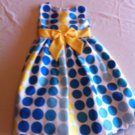 Rare Editions Girls Size 6 Blue/Yellow Special Occasion Wedding Flower Girl Party Dress
