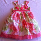 Bonnie Jean Size 6 Orange/Green Summer/Party Dress
