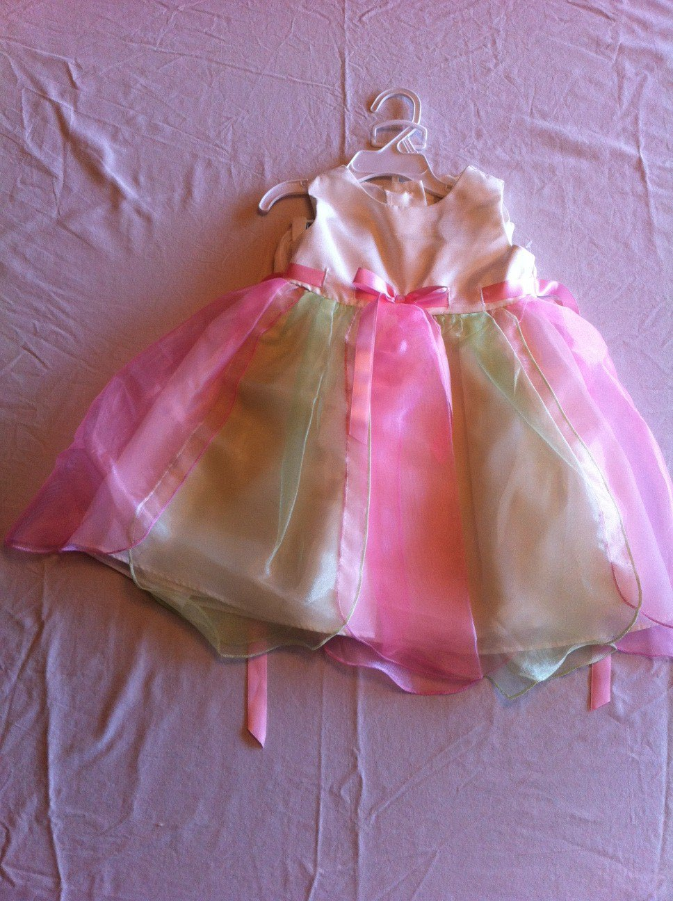 Rare Editions Size 18 Mos  2-Piece Ivory/Pink/Green
